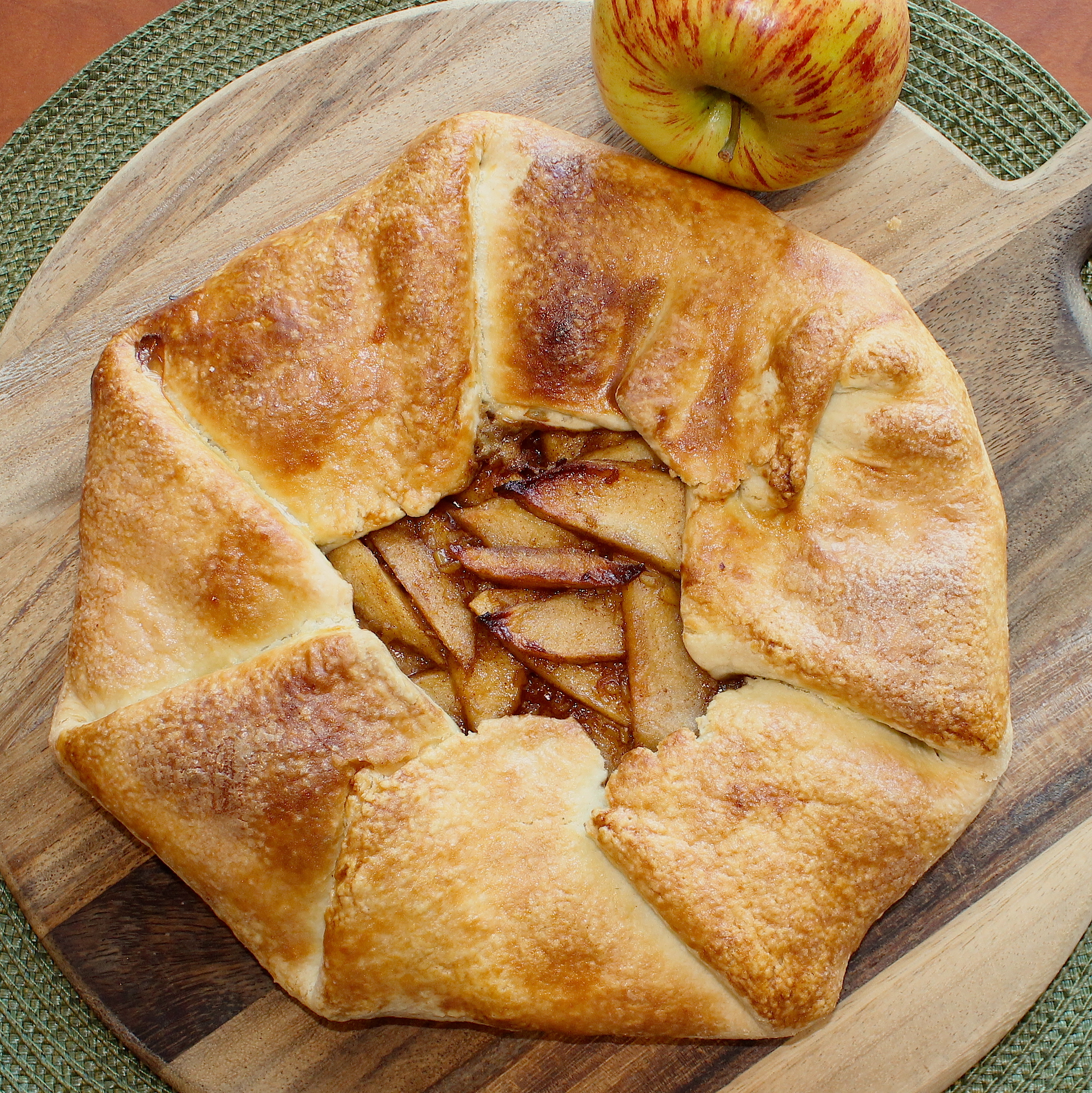 Apple-Walnut-Ginger Galette Recipe — Dishmaps